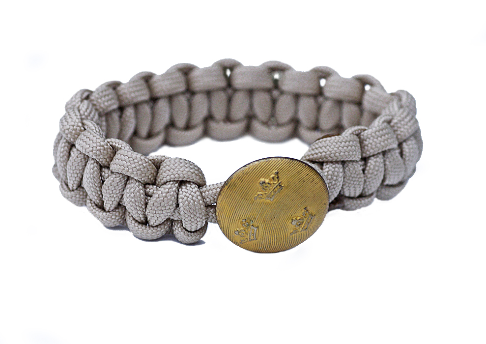 Armband - paracord beige tre kronor