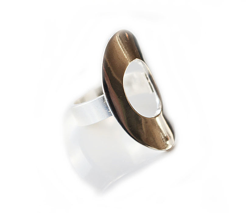 Sterlingsilverring - oval