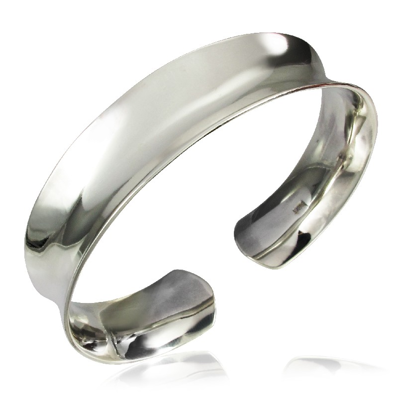 Silverarmband - bölja armring bangle